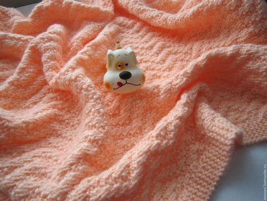 Пледы и одеяла ручной работы. Ярмарка Мастеров - ручная работа. Купить Плед детский Персик. Handmade. Плед детский
