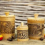Упаковочная коробка ручной работы. Ярмарка Мастеров - ручная работа Туеса берестяные. Handmade.