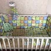 Для дома и интерьера ручной работы. Ярмарка Мастеров - ручная работа Комплект в кроватку. Handmade.