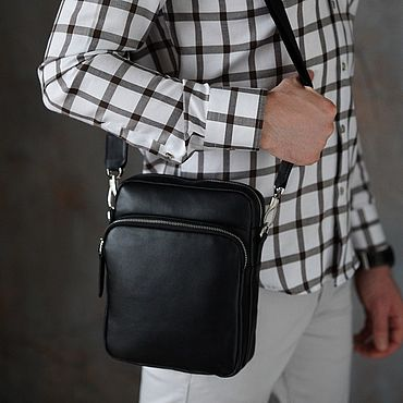 Bags and accessories handmade. Livemaster - original item Men`s leather bag