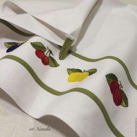 Кухня ручной работы. Ярмарка Мастеров - ручная работа. Купить Кухонное льняное полотенце Villeroy & Boch French Garden. Handmade.