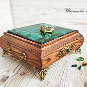 Для дома и интерьера handmade. Livemaster - original item The malachite casket. Handmade.