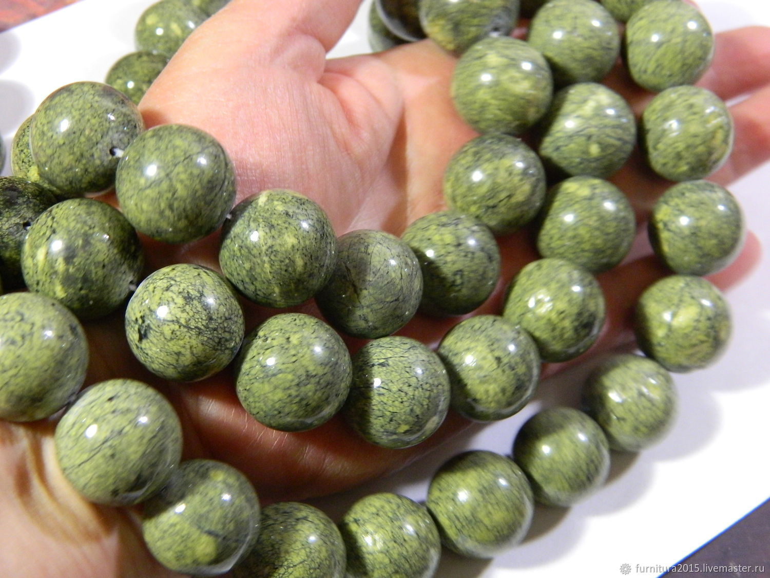 Coil beads ball 20 mm, natural stone, Ural. Thread, Beads1, Saratov,  Фото №1