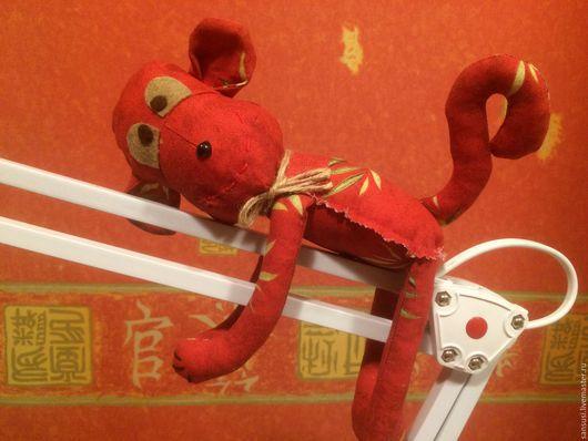 Игрушки животные, ручной работы. Ярмарка Мастеров - ручная работа. Купить Текстильная обезьянка Оливия. Символ2016.. Handmade. Обезьяна, рыжий