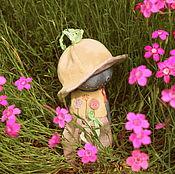 Куклы и игрушки ручной работы. Ярмарка Мастеров - ручная работа Человек в панаме. Handmade.