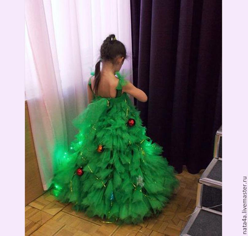 Платье костюм елка на новый год