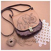 Сумки и аксессуары handmade. Livemaster - original item Leather handbag Elephant. Handmade.