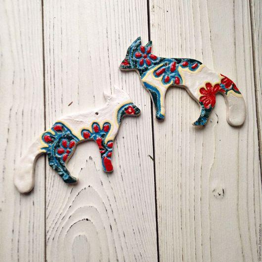 Новый год 2017 ручной работы. Ярмарка Мастеров - ручная работа. Купить Елочные игрушки Лисички. Handmade. Комбинированный, елочное украшение