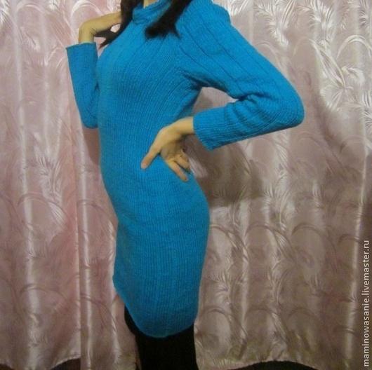 Платья ручной работы. Ярмарка Мастеров - ручная работа. Купить Платье. Handmade. Синий, платье, ручная работа, бесплатная доставка