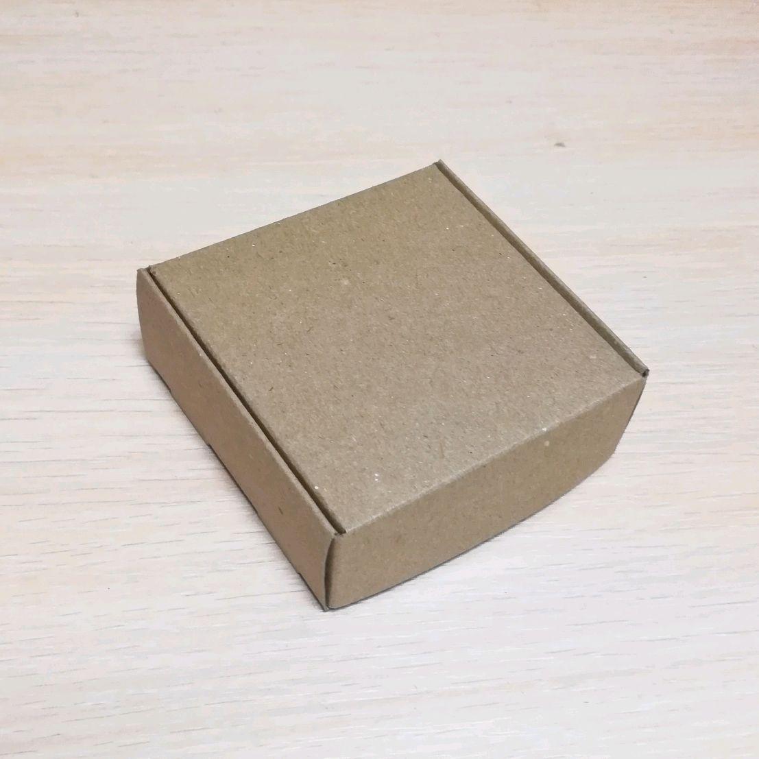 Коробка 9х9х3,5 крафт из картона с крышкой, Коробки, Архангельск,  Фото №1