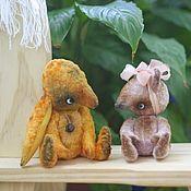 Куклы и игрушки ручной работы. Ярмарка Мастеров - ручная работа друзья зайка и мишка. Handmade.