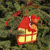 Елочные игрушки ручной работы. Ярмарка Мастеров - ручная работа Елочная игрушка Бабочка, летящая к свету. Handmade.