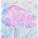 картина маслом на холсте с цветами для интерьера