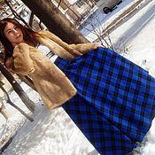 """Одежда ручной работы. Ярмарка Мастеров - ручная работа Длинная теплая юбка-тартан в пол с карманом """"Морозко"""". Handmade."""