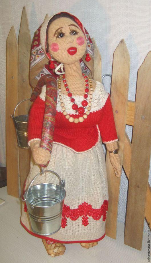 Аксинья кукла ручной работы кубаночка, крепкая, работящая и очень милая