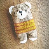 Мягкие игрушки ручной работы. Ярмарка Мастеров - ручная работа Мягкая игрушка медведь вязаная ручной работы. Handmade.