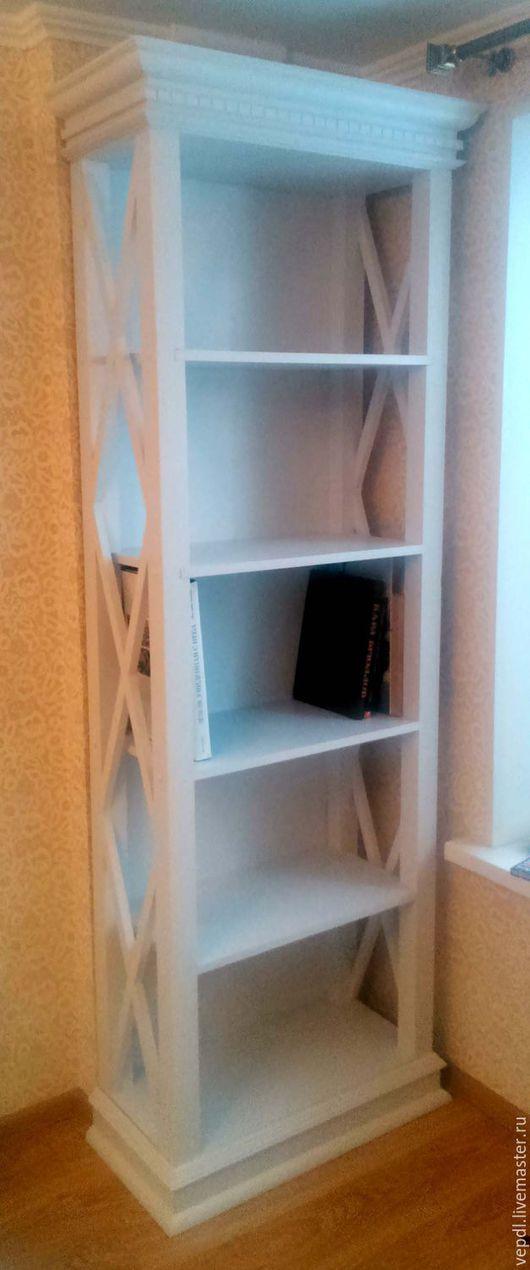 Мебель ручной работы. Ярмарка Мастеров - ручная работа. Купить Стеллаж для книг. Handmade. Белый, сосна