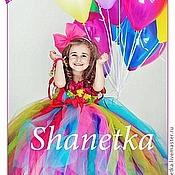 Работы для детей, ручной работы. Ярмарка Мастеров - ручная работа Пышное платье для девочки Калейдоскоп. Handmade.