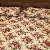 """Пледы ручной работы. Ярмарка Мастеров - ручная работа Комплект покрывало и наволочки для спальни """" Розы"""". Handmade."""