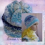 Аксессуары ручной работы. Ярмарка Мастеров - ручная работа Зимняя шапка,  вязаная шапка, жаккардовое вязание, красивая шапка. Handmade.