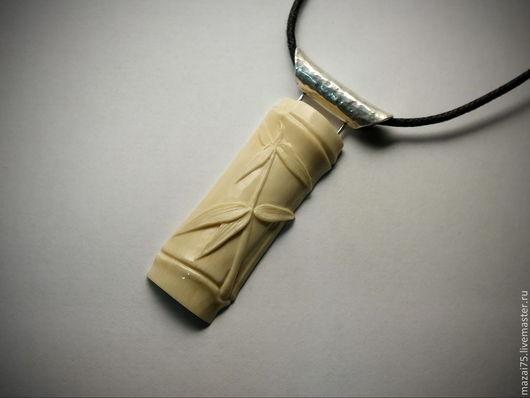 """Кулоны, подвески ручной работы. Ярмарка Мастеров - ручная работа. Купить Кулон """"Бамбук"""" из бивня мамонта и серебра. Handmade. Бамбук"""