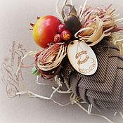 Подарки к праздникам ручной работы. Ярмарка Мастеров - ручная работа шишка и шар елочные  новогодние. набор игрушек. Handmade.