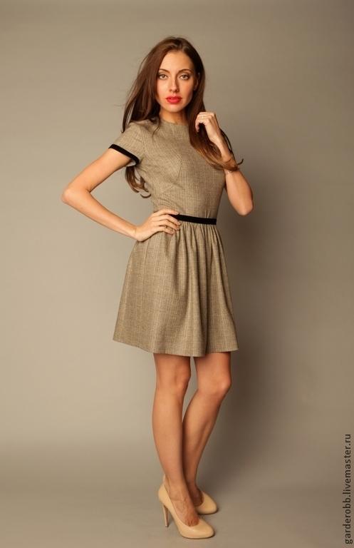 Платья ручной работы. Ярмарка Мастеров - ручная работа. Купить Коктейльное платье из кашемира. Handmade. Серый, зимнее платье, шерсть