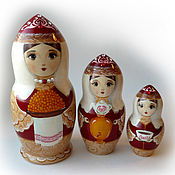 Русский стиль handmade. Livemaster - original item Matryoshka 3 local