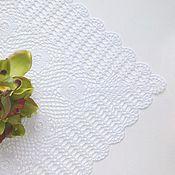 Для дома и интерьера ручной работы. Ярмарка Мастеров - ручная работа Салфетка кружевная Цветочная поляна. Handmade.