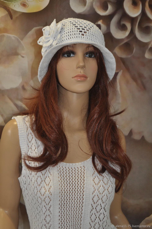 Openwork hat, cotton, ,55-60p, Caps, Lipetsk,  Фото №1