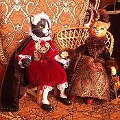 Куклы и пупсы ручной работы. Ярмарка Мастеров - ручная работа авторские куклы кошки Марсилья и Фредерик. Handmade.