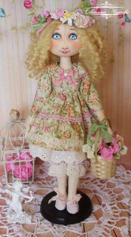 Коллекционные куклы ручной работы. Ярмарка Мастеров - ручная работа. Купить Верочка. Интерьерная текстильная кукла. Handmade. Мятный