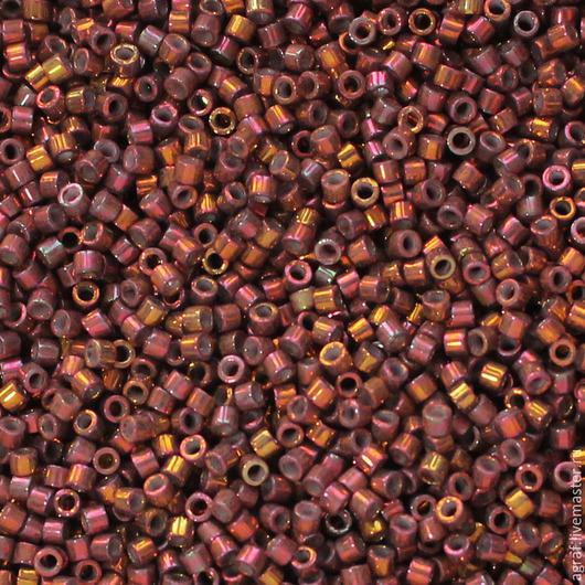 Для украшений ручной работы. Ярмарка Мастеров - ручная работа. Купить Delica DB-1013 Metallic Teaberry Luster японский бисер делика Миюки. Handmade.