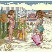 Набор для вышивания дети на пляже
