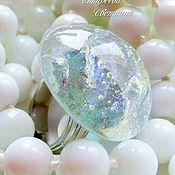 """Украшения ручной работы. Ярмарка Мастеров - ручная работа """"My pearl"""" кольцо из стекла, фьюзинг. Handmade."""