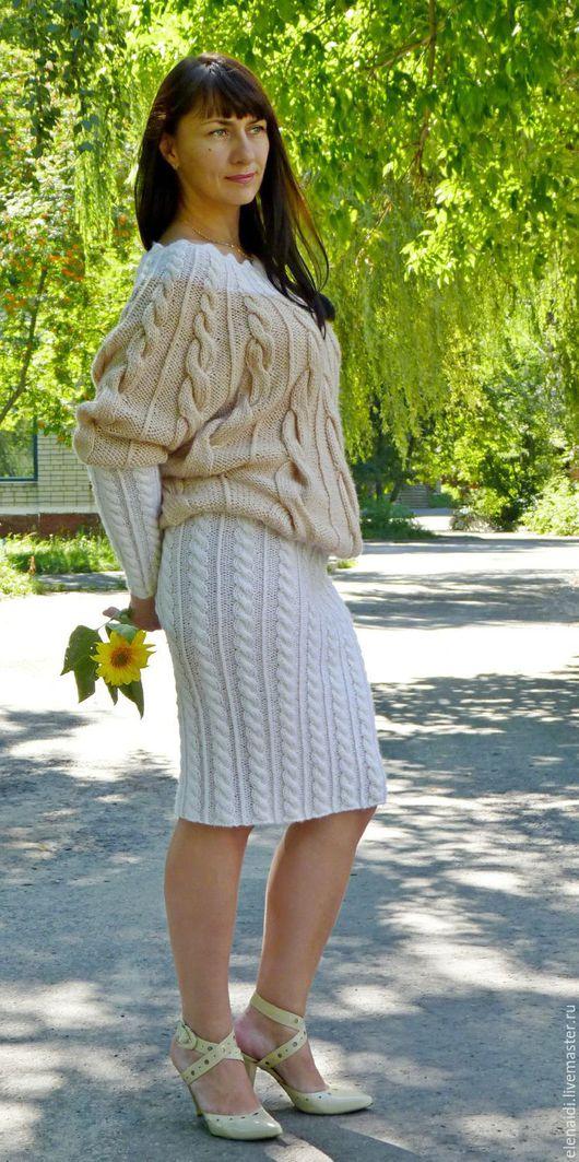 Платья ручной работы. Ярмарка Мастеров - ручная работа. Купить Платье миди Каскад кос с рукавами летучая мышь. Handmade.