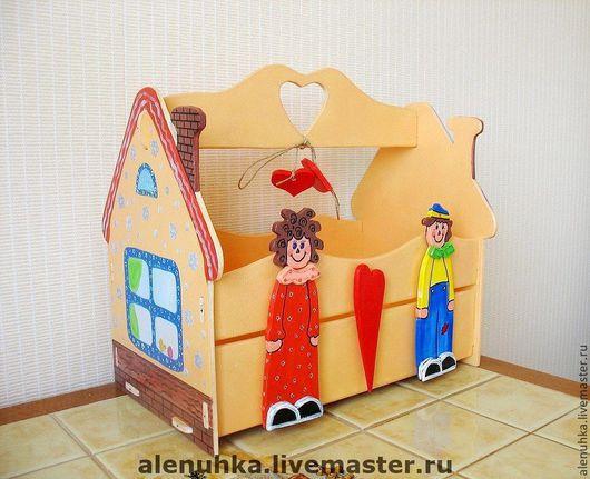 """Детская ручной работы. Ярмарка Мастеров - ручная работа. Купить Ящик для книг """"Дом для любимых вещей"""".. Handmade. Подарок для ребенка"""