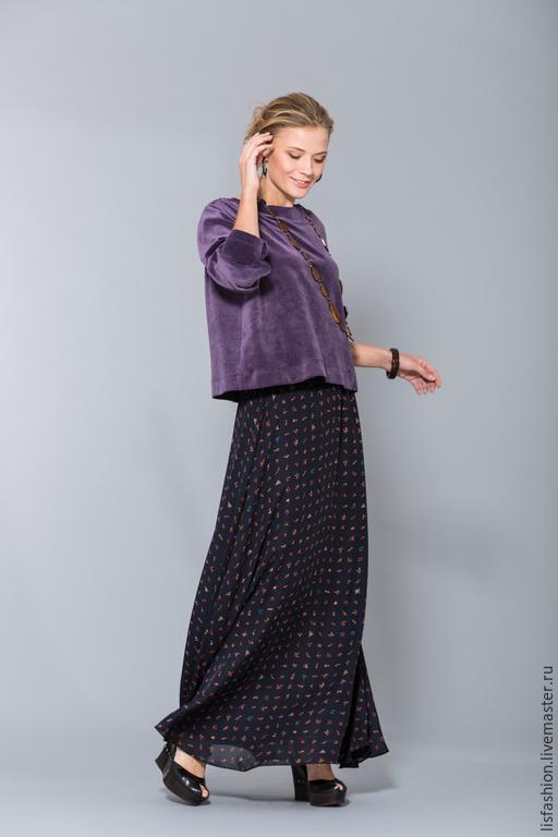 Кофты и свитера ручной работы. Ярмарка Мастеров - ручная работа. Купить Джемпер 1506R. Handmade. Фиолетовый, блузка, блузка нарядная
