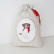 Подарки к праздникам handmade. Livemaster - original item Pouch with embroidered