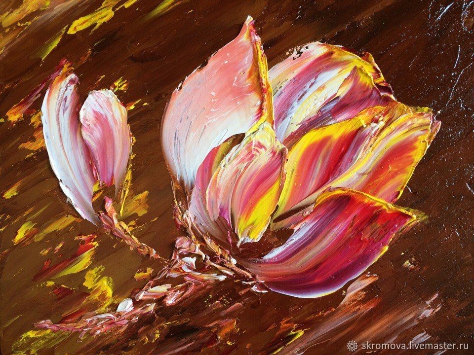Oil painting Tulip, Pictures, Moscow,  Фото №1
