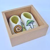 Работы для детей, handmade. Livemaster - original item Booties felted made of wool
