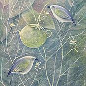 Картины и панно ручной работы. Ярмарка Мастеров - ручная работа Чайная роща...Картина-принт на холсте.. Handmade.