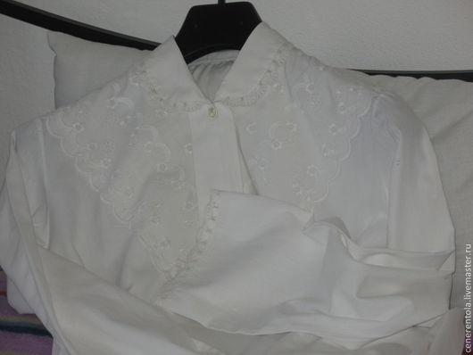 Одежда. Ярмарка Мастеров - ручная работа. Купить винтажная хлопчатобумажная короткая ночная сорочка. Handmade. Хлопок, ночная рубашка