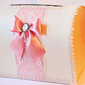 Свадебный салон ручной работы. Ярмарка Мастеров - ручная работа Свадебный сундучок в розовом цвете с кружевом. Handmade.