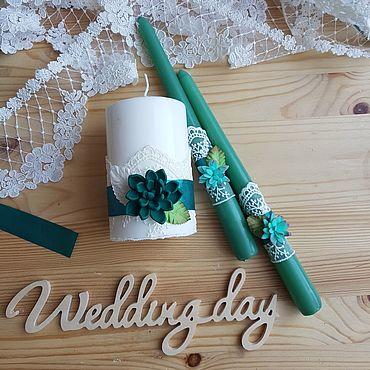 Свадебный салон ручной работы. Ярмарка Мастеров - ручная работа Семейный очаг (свадебные свечи). Handmade.