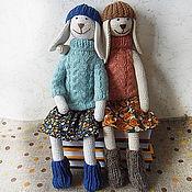 Куклы и игрушки ручной работы. Ярмарка Мастеров - ручная работа Зайка. Зайка игрушка. Вязаная игрушка зайка.. Handmade.