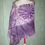 Аксессуары handmade. Livemaster - original item Tippet of wool Lilac fantasy. Handmade.