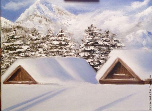 """Пейзаж ручной работы. Ярмарка Мастеров - ручная работа. Купить """"Зимняя сказка"""". Handmade. Белый, зима, зимний пейзаж"""