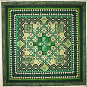 Для дома и интерьера handmade. Livemaster - original item .Patchwork bedspread and pillowcase set emerald patchwork. Handmade.