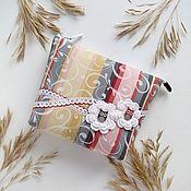 Сумки и аксессуары handmade. Livemaster - original item Zippered cosmetic bag with Two owls pocket. Handmade.